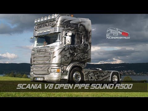 Scania V8 Open Pipe Sound R500 1.28.x