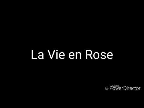 La Vie en Rose- acoustic karaoke french and english