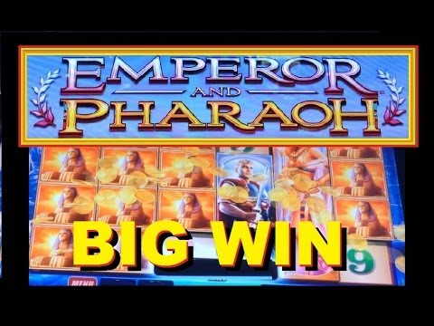 BIG WIN! Emperor and Pharaoh Slot Machine Bonus & Free Spins!! ~ WMS (Emperor & Pharaoh)