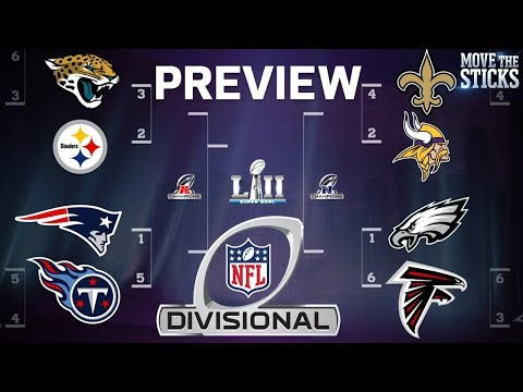 NFL Playoffs Divisional Round Game Predictions & Players to Watch | Move the Sticks | NFL (видео)