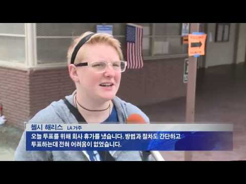 CA 예비선거 '투표열기 후끈'  6.7.16  KBS America News