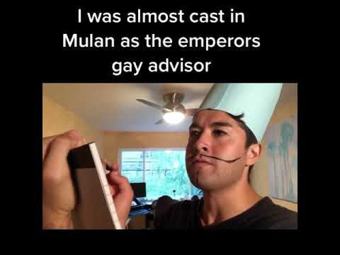 I was almost cast in Mulan as the Emperor's Gay Advisor