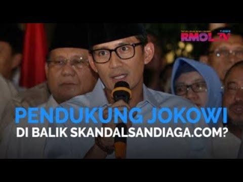 Pendukung Jokowi Di Balik SkandalSandiaga.com?