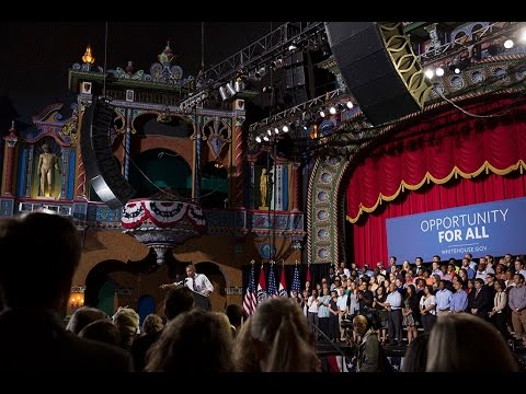 president - President Obama delivers remarks on the economy, at the Uptown Theater in Kansas City, Missouri, July 30, 2014.