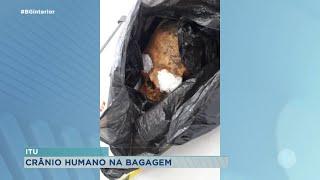 Polícia Rodoviária encontra crânio humano em bagagem de mão