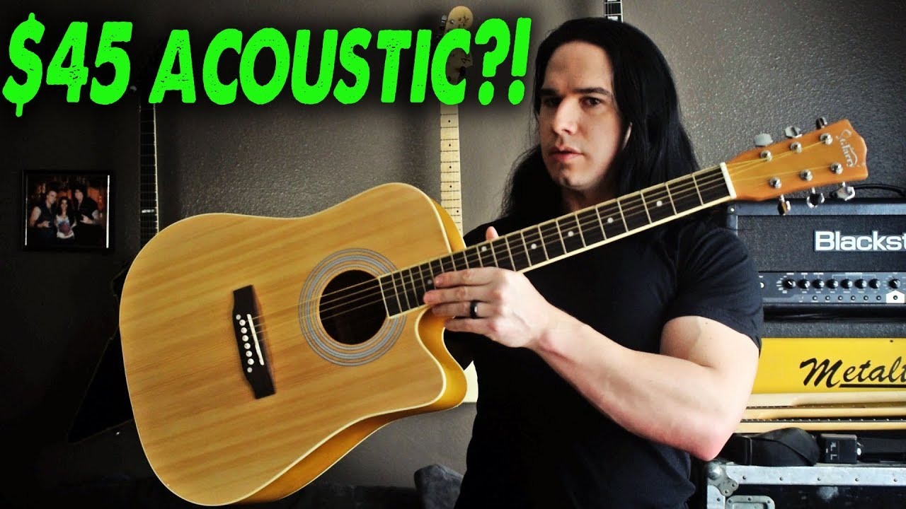An Amazing $45 Guitar! (Full Size Acoustic) – Demo / Review