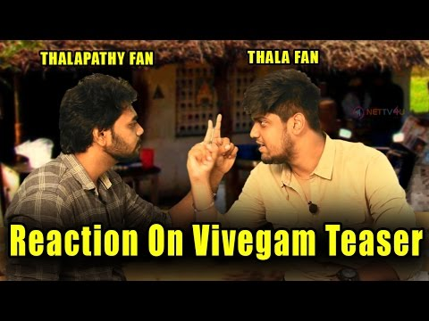 Video Vijay Fans Reaction On Vivegam Teaser | Thala Fans Vs Thalapathy Fans | Vivegam Teaser | Part 2 download in MP3, 3GP, MP4, WEBM, AVI, FLV January 2017