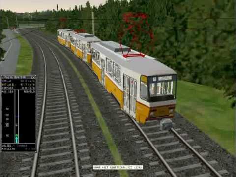 msts tram tatra villamos