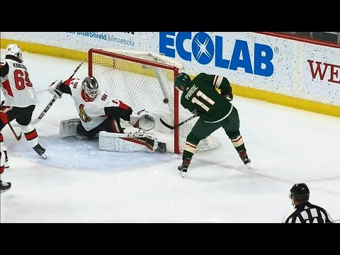 Video: Parise gives Wild a lead over Senators less than a minute in