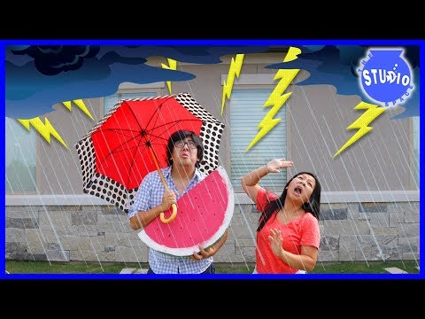 Lightning Thunderstorm made our power go out + Funny Cartoon Animated EK DOODLES!!!