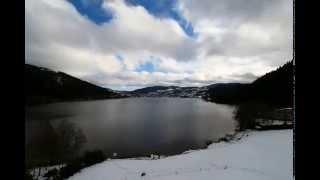 Timelapse hiver 2014 à l'auberge au bord du lac de gérardmer