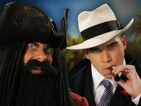 Blackbeard vs Al Capone.  Epic Rap Battles of History Season 3. (видео)