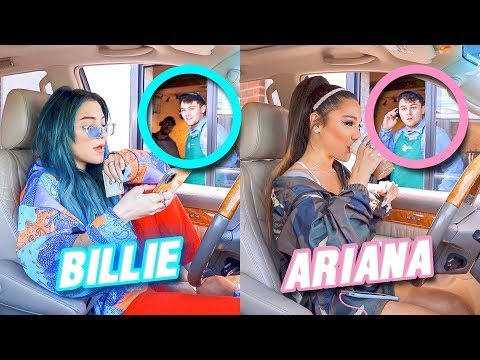 Going Through Drive Thru's Dressed As Celebrities Challenge