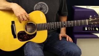 Acoustic Guitar Lesson - Strum Pattern Exercises - Rhythm Lesson - Beginner