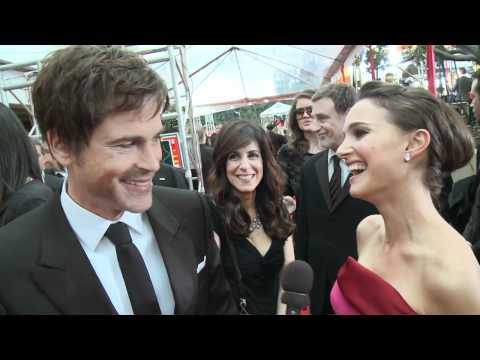 Natalie Portman & Rob Lowe - HFPA Red Carpet Interview- Golden Globes 2012