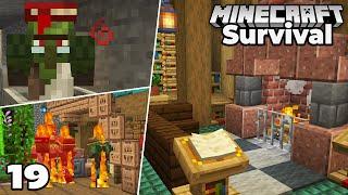 Let's Play Minecraft Survival : VILLAGER PROBLEMS & Village Library Interior