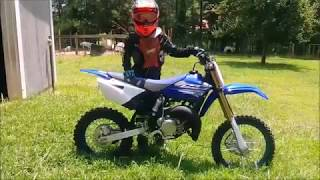 2. Logan Rides 2019 YZ 85 for the first time