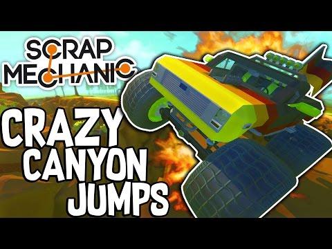 Scrap Mechanic CREATIONS! - CRAZY CANYON JUMPS!! [#36] W/Speedy  Gameplay