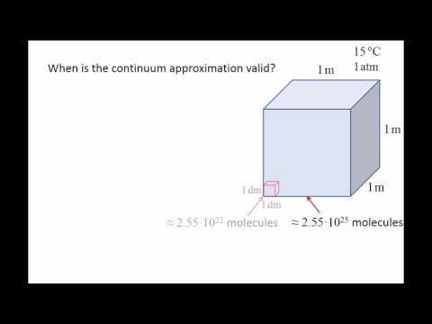 Fluid Mechanics: Topic 1.6 - Continuum approximation