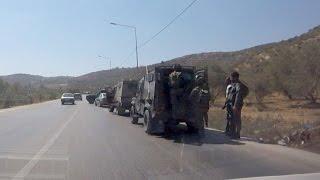 قوات الاحتلال تنصب حاجزاً عسكرياً بالقرب من مفرق بلعا شرق طولكرم