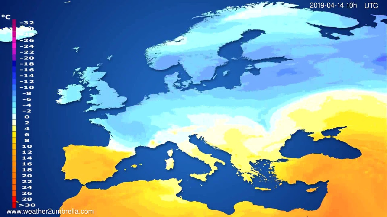 Temperature forecast Europe // modelrun: 12h UTC 2019-04-11