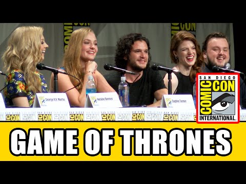 comic con - Game of Thrones Season 5 new cast were revealed at the Game of Thrones Comic Con Panel with Pedro Pascal (Oberyn Martell), Maisie Williams (Arya Stark), Rory McCann (Sandor Clegane, The Hound),...