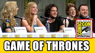 Game of Thrones Season 5 new cast were revealed at the Game of Thrones Comic Con Panel with Pedro Pascal (Oberyn Martell), Maisie Williams (Arya Stark), ...