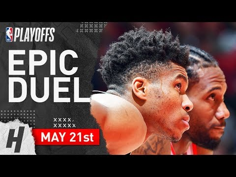 Kawhi Leonard Vs Giannis Antetokounmpo Game 4 Duel Highlights 2019 NBA Playoffs ECF - TOO GOOD!