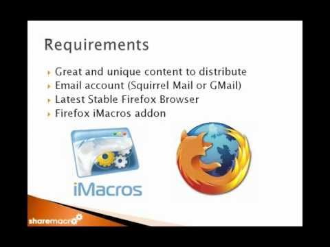 ShareMacro - Content Distribution And Internet Marketing Automation Software