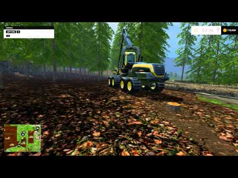 farming simulator 2015 The forestry map looooogging a way