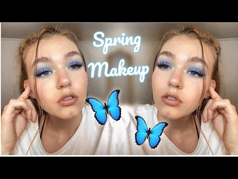 Baby Blue Spring Makeup 🦋
