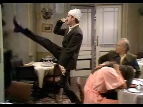 Basil Fawlty waits on the Germans - Fawlty Towers - BBC