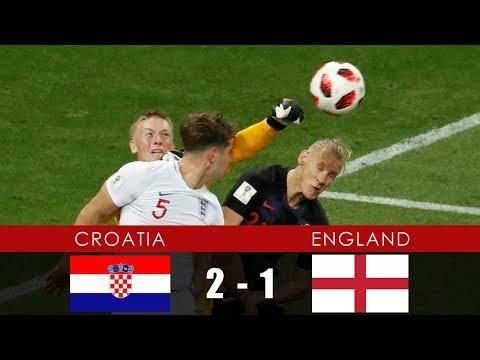 Semi-Finals: CROATIA vs ENGLAND 2-1 - All Goals & Extended Highlights - 11th July 2018