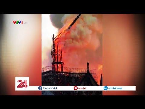 Nhà thờ Đức Bà Paris chìm trong biển lửa | VTV24 - Thời lượng: 7:57.