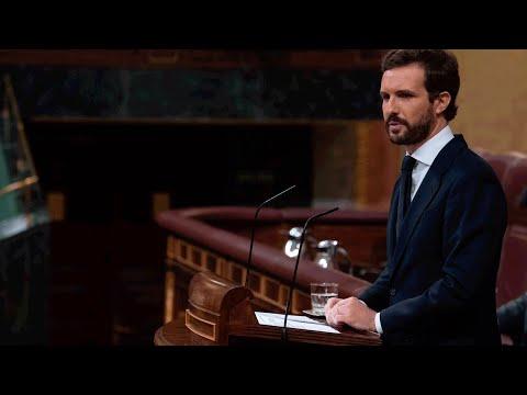 Replica de Pablo Casado en el debate de la 6ª prórroga del estado de alarma