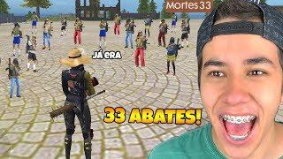 RECORD MUNDIAL? MATEI 33 PESSOAS NO FREE FIRE!!