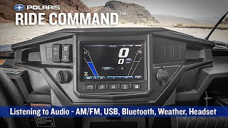 8. RIDE COMMAND: Listening to Audio - Polaris RZR Sport Side by Side ATV