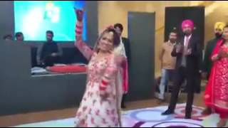 Sikh Punjabi Bride Wedding Dance 2017  Nai Jaana - Neha Bhasin