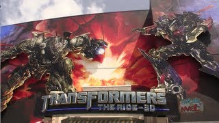 Highlights Of Transformers: The Ride 3D Queue And Ride At Universal Studios Hollywood
