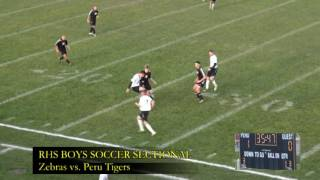 Rochester High School Boys Soccer Sectionals vs Peru