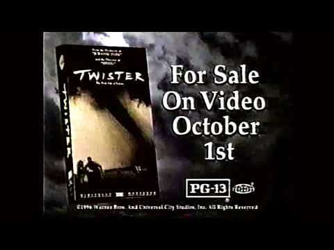 Twister (1996) on VHS Commercial (September 15, 1996) [50FPS] [Minor powered]
