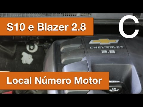 Dr CARRO Local Número Motor S10 e Blazer 2.8 GM