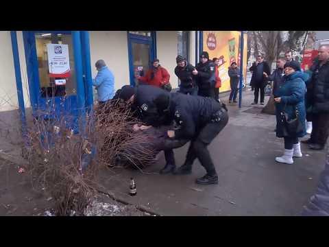 Шок,Жесть, задержание пешехода,  Кривой Рог,Моя новая  полиция(