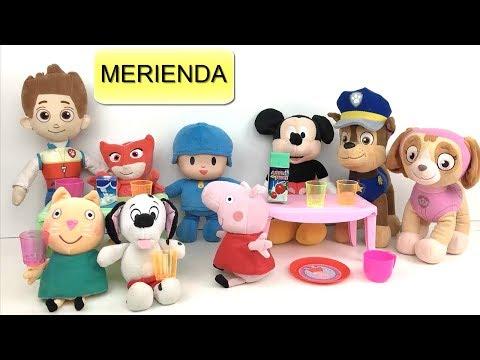 Peppa Pig en español - Peppa pig y paw patrol bebes en español: fiesta y merienda en casa con la patrulla canina y pj masks