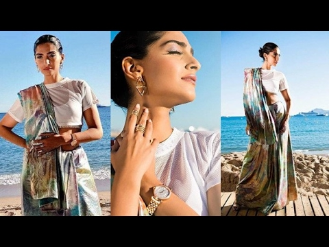 Sonam Kapoor In A Bold Saree FIRST LOOK - Cannes F