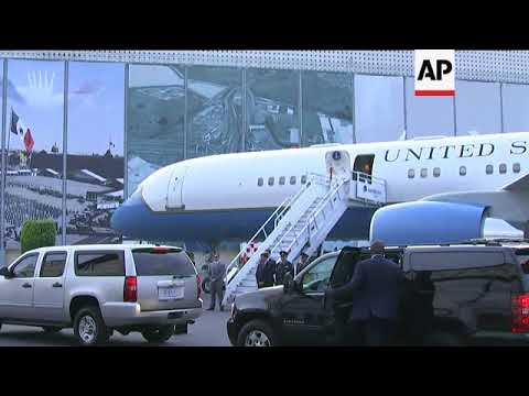 US Secretary of State Rex Tillerson arrives in Mexico