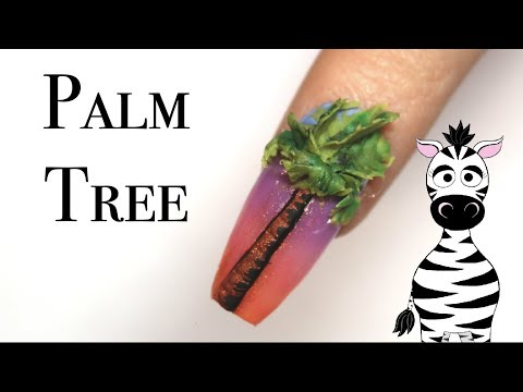 Acrylic nails - 3D Palm Tree Acrylic Nail Art Tutorial