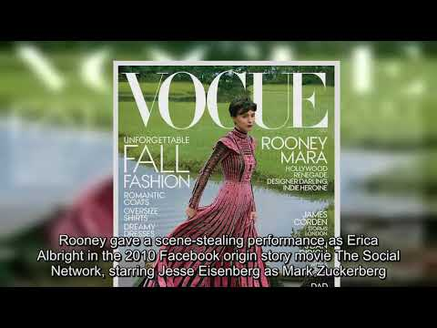 Rooney Mara covers October issue of Vogue