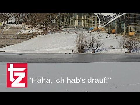 Unfassbar! Hier lachen Gaffer über Eis-Unfall am Münchner Olympiasee