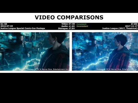 VIDEO COMPARISONS - Justice League Special Comic-Con Footage